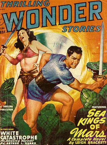 Portada de Thrilling Wonder Stories del mes de juny de 1949